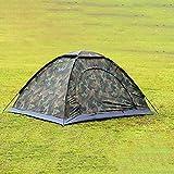 SeniorMar Tragbare Outdoor Camping Doppelte Personen Zelt Wasserdicht Schmutzfeste Camouflage Folding Zelt für Reisen Wandern