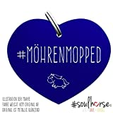 Pferde Glücksmarke #Mörenmopped Blau – Gücksbringer - Soulhorse Anhänger Halfter, Trense, Zaumzeug, Sattel, Vorderzeug