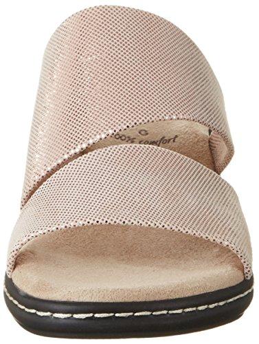 Jana Damen 27215 Offene Sandalen mit Keilabsatz Pink (ROSE METALLIC 952)