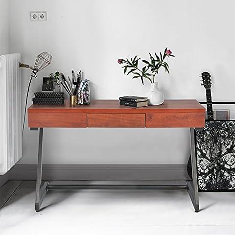 Table console Innovareds-uk, style vintage, simple, 1tiroir, multifonctionnel, table console pour couloir, salon, marron 39,3 x 120 x 75cm