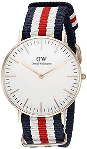 Daniel Wellington de mujer reloj de pulsera analógico de cuarzo (Talla Única, color blanco) de Daniel Wellington