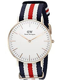 Daniel Wellington Damen-Armbanduhr Canterbury Analog Quarz Nylon DW00100030