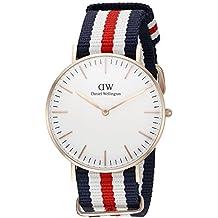 Daniel Wellington 0502DW - Reloj con correa de acero para mujer, color blanco / gris