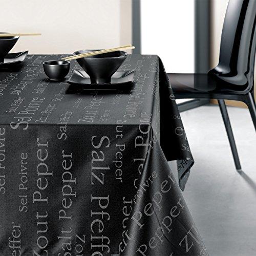 Winkler Nappe Enduite SEL & POIVRE Noir Coton 150x150cm