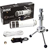 Rode Podcaster MKII USB Mikrofon + KEEPDRUM MS055 Tripod Tisch-Stativ