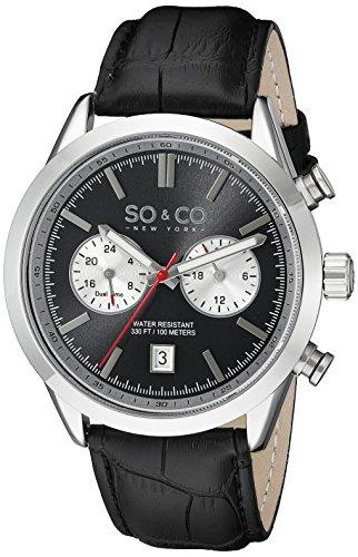 so-co-new-york-monticello-50561-herren-quarzuhr-mit-grauem-zifferblatt-analog-anzeige-und-schwarzem-