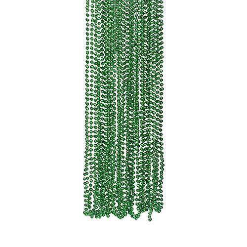 Schmuck Kostüm Trading Company - Green Metallic Bead Necklaces - Novelty Jewellery & Necklaces