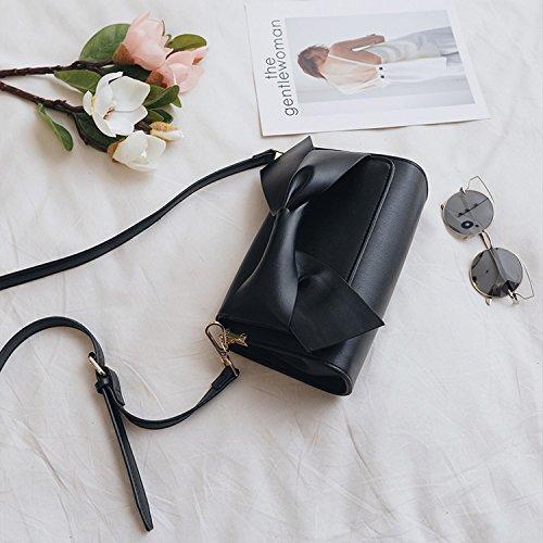 Kleine Quadratische Tasche Fliege Handtaschen Mode Schulter Messenger Bag Weiß