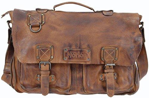 pelle-tan-vintage-satchel-borsa-di-norton