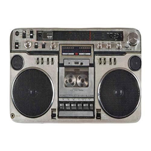 LIS HOME Bad Matte 1980er Jahre Vintage 80er Jahre Boombox Boom Box Kassette Ghetto Badezimmer Dekor Teppich