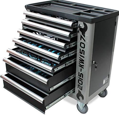 Werkzeugwagen Werkstattwagen von KRAFTWELLE 7 Schubladen komplett gefüllt mit Werkzeuge –...