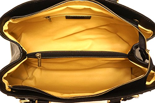 Schulter Tasche in Glattleder 8501 Schwarz