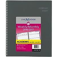 Dayminder accademico calendario planner settimanale/mensile, luglio 2016–giugno 2017, 8–1/5,1x 27,9cm antracite
