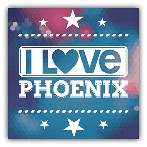 I Love Phoenix City United States Slogan Hochwertigen Auto-Autoaufkleber 12 x 12 cm (United Phoenix)