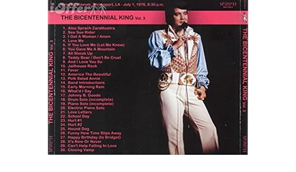 cd rare elvis presley the bicentennial king vol 3