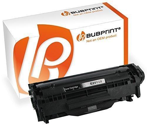 Hp B&w Laserjet (Bubprint Toner kompatibel für HP Q2612X für LaserJet 1010 1012 1015 1018 1020 1022 1022N 3015 3020 3030 3050 3052 3055 M1005MFP M1319F MFP Schwarz)