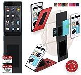 Smartisan T1 Hülle Cover Case in Rot Leder - innovative 4