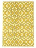 In- und Outdoor-Teppich Balkon / Wohnzimmer Vitaminic gelb-natur 160 x 230 cm