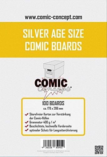 Comic Concept Silver Age Size Comic Boards (100 Stück)