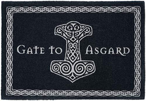 Gate To Asgard Fußmatte Schwarz/Weiß