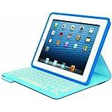 Logitech FabricSkin Blatt Blau - Tablet-Schutzhüllen (Blatt, Blau, Apple, iPad 2, iPad (3G & 4G), 200 mm, 20 mm)