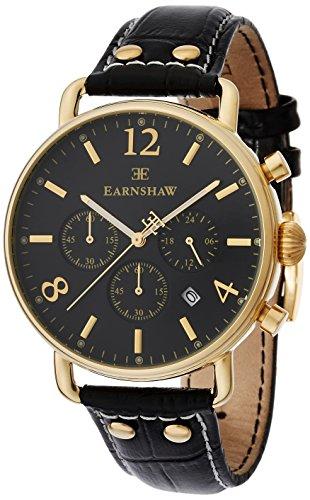 Thomas Earnshaw Es-8001-01 - Reloj Cronógrafo Para Unisex Adultos, Color Oro Negro