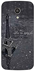 Snoogg Eiffel Love Case Cover For Motorola G / Moto G 2Nd Generation