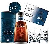 100% Rum Rarität Fidschi-Inseln Spiced Rum Sonderedition im Geschenkset mit 2 geschliffenen Gläsern Geburtstag Geschenk für Männer & Kenner Weltreise Fidji