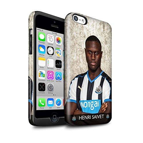 Offiziell Newcastle United FC Hülle / Glanz Harten Stoßfest Case für Apple iPhone 5C / Pack 25pcs Muster / NUFC Fussballspieler 15/16 Kollektion Saivet
