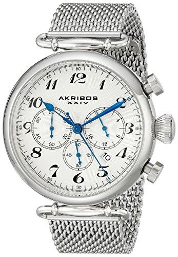 Akribos XXIV AK627SSW - Orologio da polso, Uomo, Acciaio inossidabile, colore: Argento