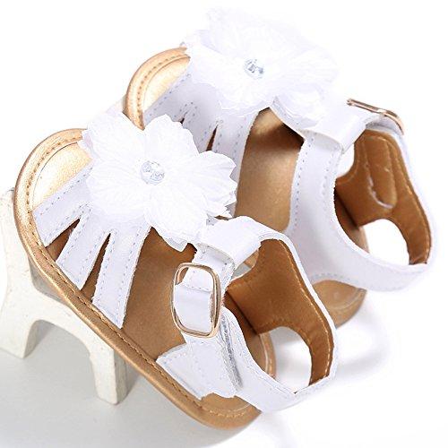 Baby Mädchen Schuhe Baby-Sandalen PU Weiche Sohle Schuhe Weiß + Gold