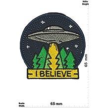 "Parches - I Believe - UFO - Alien - Fun Alien - Iron on Patch -Parche Termoadhesivos Bordado Apliques - Give Away"""