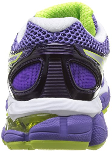 Asics T485N 3697 Baskets Mode Femme-Multicolore Multicolore - PURP/LIGHT/Lime