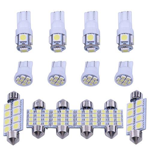 CITALL 14 kits blancs d'emballage d'ampoule d'intérieur de LED pour des lumières de plaque d'immatriculation de dôme de carte de T10 et de 31mm