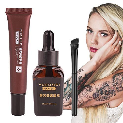 Concealer, professionelle Vitiligo Cover Flüssigkeit Set Narbe Tattoo Concealer Verstecke Flecken Muttermale von Filfeel