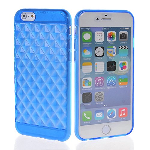MOONCASE TPU Silicone Housse Coque Etui Gel Case Cover Pour Apple iPhone 6 ( 4.7 inch ) Claire Bleu