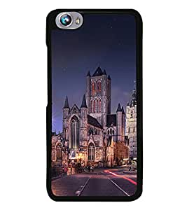 PrintVisa Holy Place Church High Gloss Designer Back Case Cover for Micromax Canvas Fire 4 A107