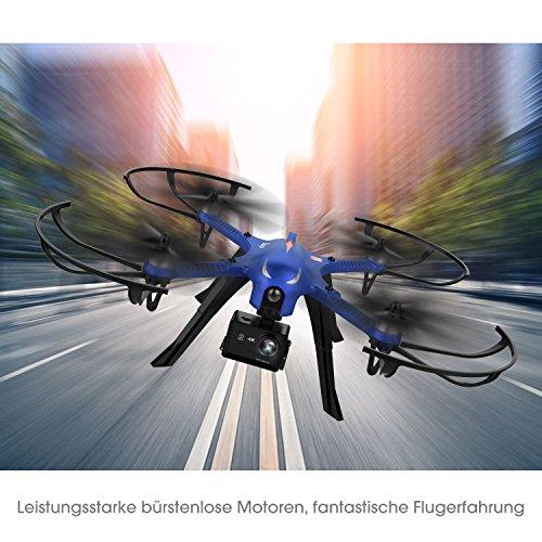 DROCON Bürstenlose Drohne Quadrocopter Bugs 3 (Action Kamera Halterung, Langer Steuerabstand)blau - 2