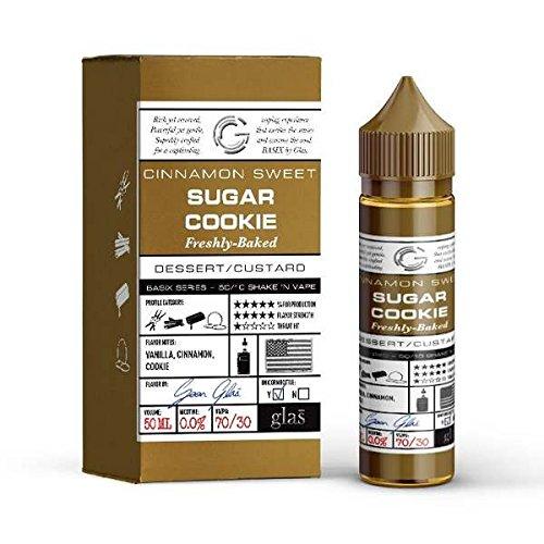 Sugar Cookie E-Liquid (DIY)-überaromatisiert!-Glas Basix-Butterkekse+brauner Zucker, Karamell. etwas Zimt und Muskat-50 ml-70VG/30PG-0mg Nikotin-für E-Zigarette/E-Shisha (Glas Brauner Zucker)