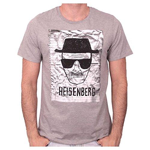 T-Shirt schwarz Heisenberg Notebook Breaking Bad Pause canap Grau - Gris-chiné