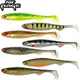 7 Fox Rage Slick Shads 13cm - Kunstköder zum Spinnfischen auf Hecht, Zander & Barsch, Gummiköder zum Jiggen & Faulenzen, Gummishad