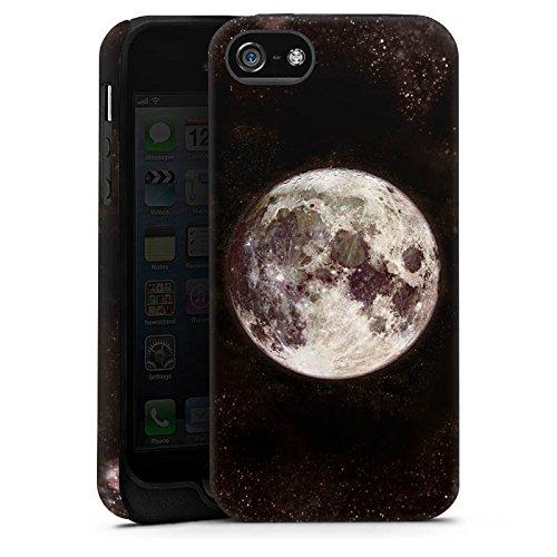 Apple iPhone 6s Silikon Hülle Case Schutzhülle Mond Moon Universum Tough Case matt
