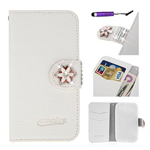 Banath Handy Hülle für Wiko Sublim PU Leder Flip Wallet Cover Stand Case Card Slot Leder Karteneinschub Magnetverschluß Kratzfestes (Wiko Sublim)
