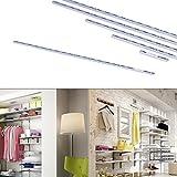 Regalsystem Wandregal Wandleiste Wandschiene Schienen Regal Steckregal einreihig 100 cm grau