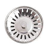 Kentop Acero Inoxidable Fregadero de Cocina Drain Colador Cocina Fregadero Tope Diámetro Exterior 80mm