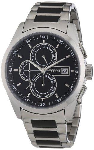 Esprit Herren-Armbanduhr XL circolo Chronograph Edelstahl A.ES104091005