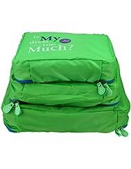 Set 3pcs Sac de Rangement Mailles Nylon Bagage de Vêtement Portable Pochette Organisateur de Valise Pour Voyage/Déplacement 3 Pièces Taille Variée