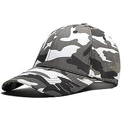 Ajustable Algodón camuflaje béisbol sombrero sol protección visera, Green Camouflage