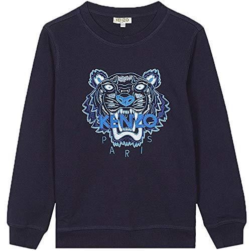 Kenzo Kids Tiger Sweat imprimé Bleu Marine 6 Years Navy