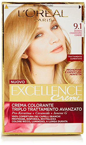 loreal-paris-excellence-crema-colorante-triplo-trattamento-avanzato-91-biondo-chiarissimo-cenere